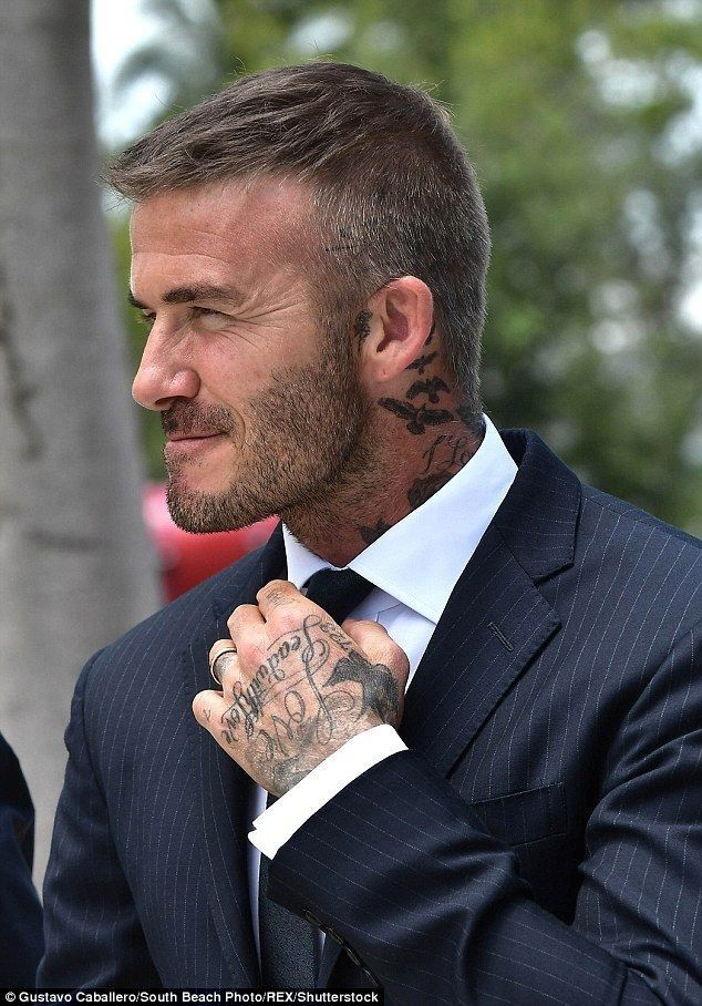 David Beckham side shaved hairsyle
