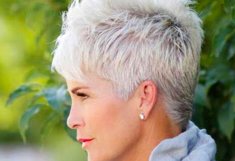 Old women short hairstyle