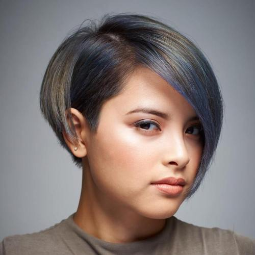 Short Haircut With Bangs For Chubby Face