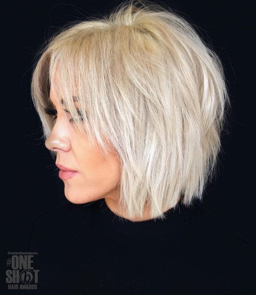 short blond hair color for 35 plus age women