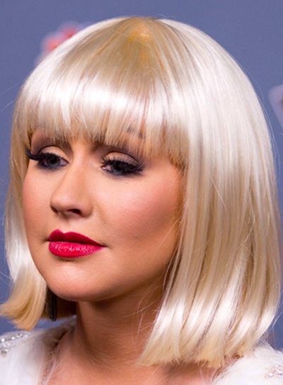 Christina Aguilera bangs haircut
