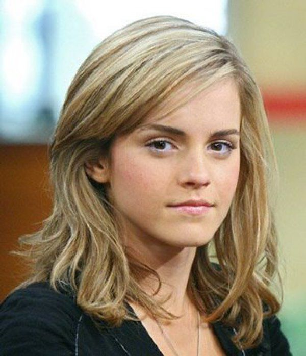 Emma Watson Short Blonde Subtle Waves
