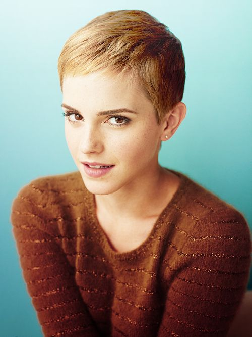 Emma Watson Short Hairstyle 2020 Pixie Bob Front Back View
