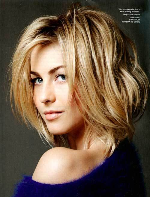 Julianne Hough Short Hairstyles Back Front View Bob Pixie Updo