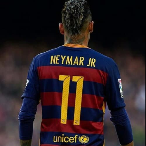 Neymar jr Mohawk back view haircut