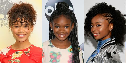 Christmas Black Toddlers Afro Puffs Hairstyles
