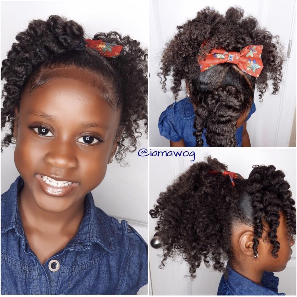 Christmas Black Toddlers Fro Out Hairstyles