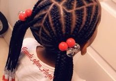 Christmas Black Toddlers Pigtails Hair