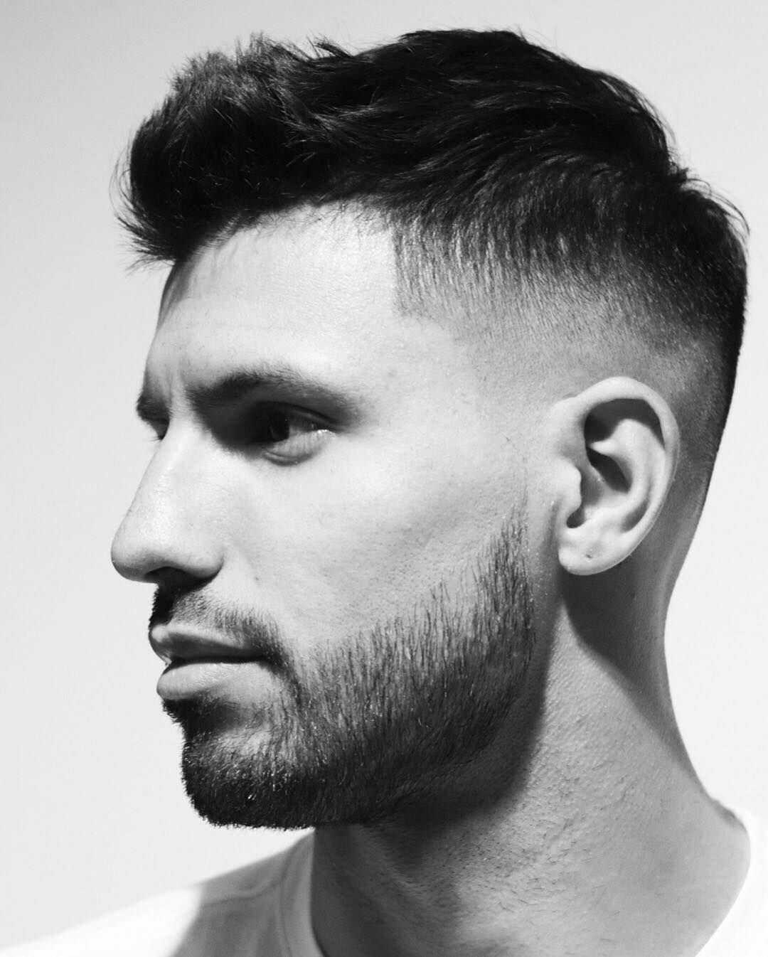 Sergio Aguero Short Spiky Hair with Undercut