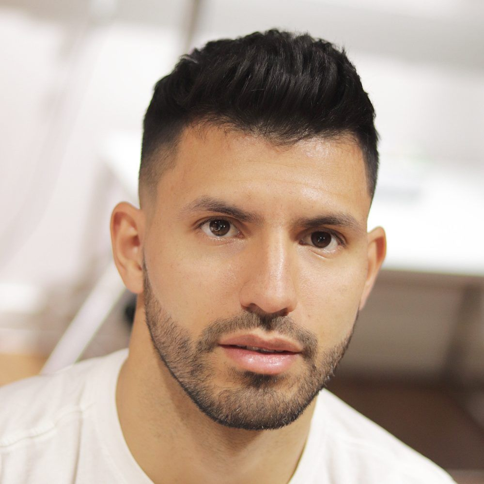 Sergio Aguero Short Textured Hair