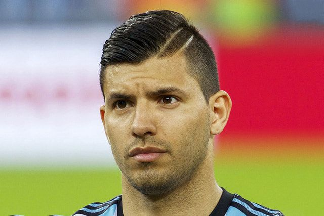 Sergio Aguero Slicked Back Hair
