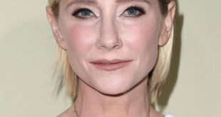 Anne Heche Short hair with Side Part Bangs