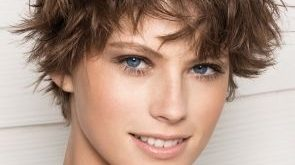 Short Tousled Hair with Bangs