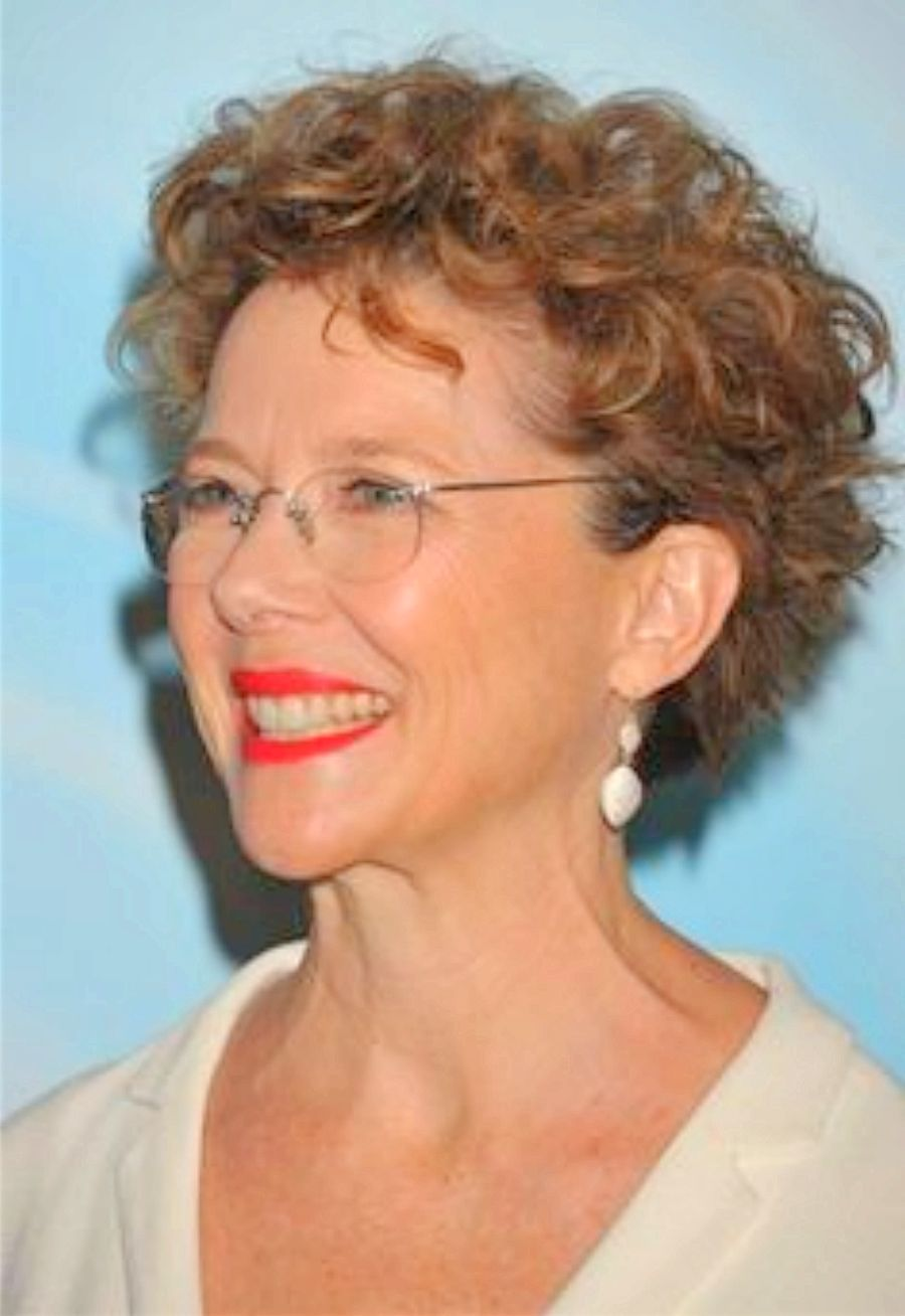 Short Curly Hair for Women Over 50 with Glasses