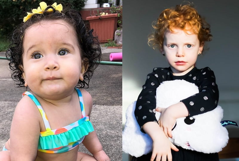 Curls hair Band hairstyle for little girl