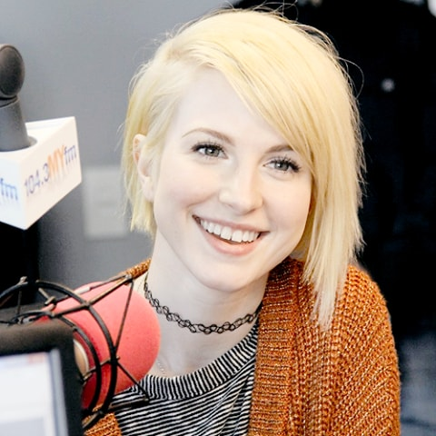 Hayley Williams Short Blonde Hair