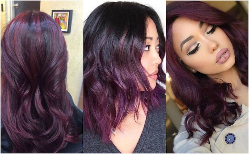 Semi-Permanent Purple Hair dye for dark hair