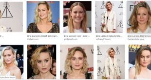Brie Larson hairstyle collection with another hair length
